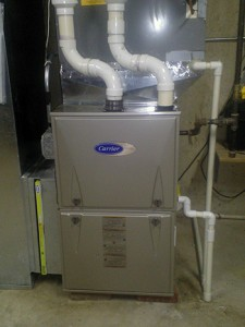 carrier furnace installed