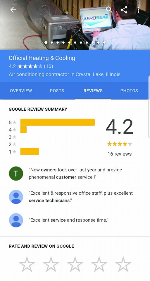 heating repairs - reviews