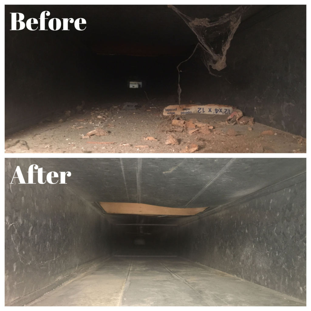 before and after duct cleaning - air duct cleaning companies