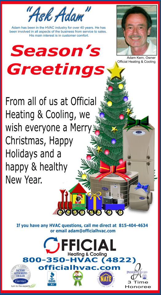 official hvac seasons greetings