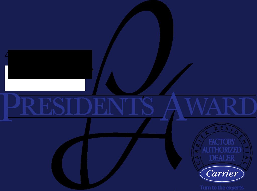 2020 presidents award - carrier - official hvac