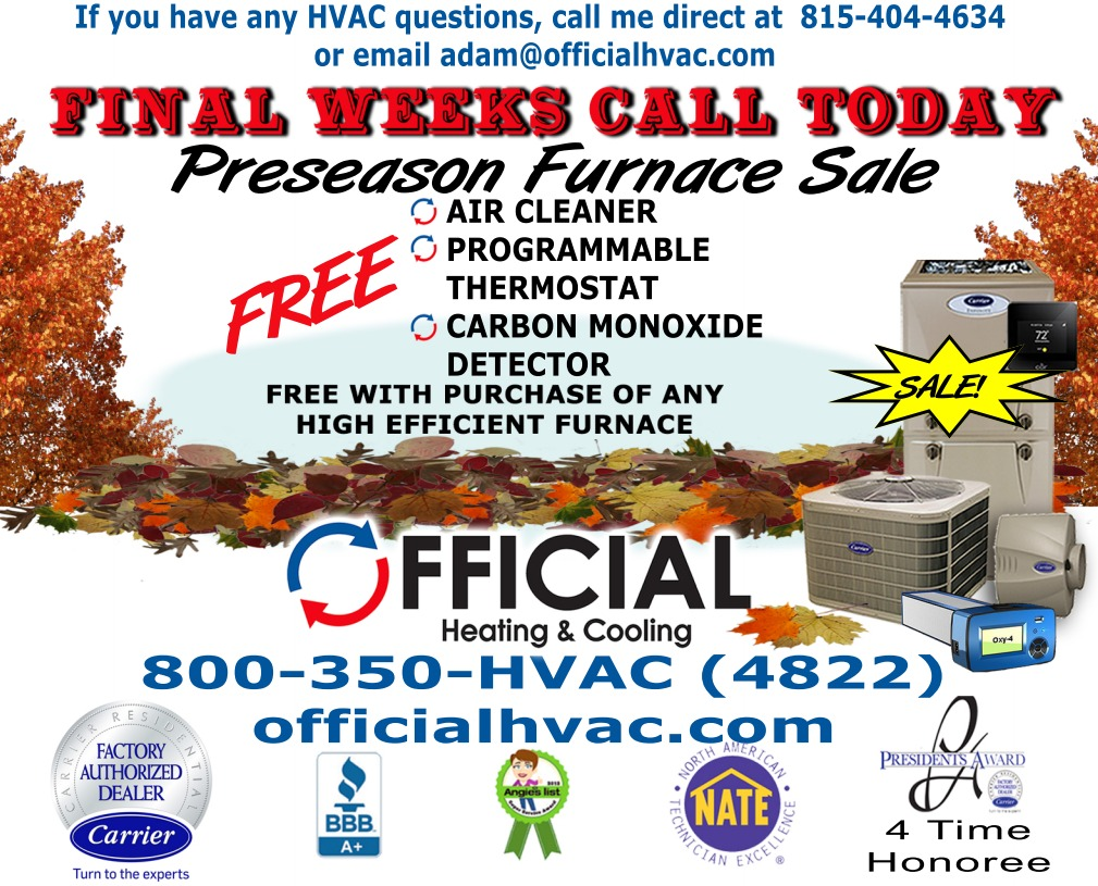 How clean is the air in your home - preseason furnace sale