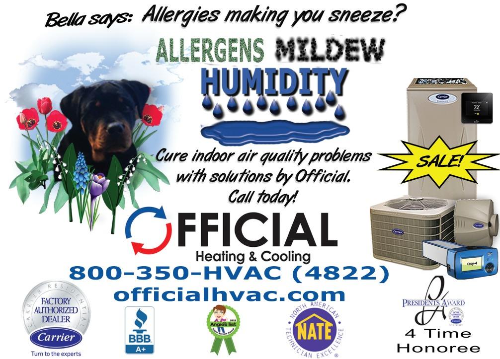 Allergens - Indoor Air Quality - Clean Air
